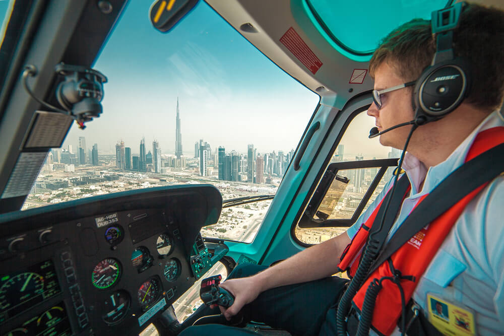 Luftaufnahmen in Dubai